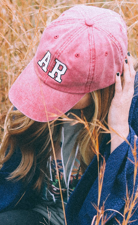 charlie southern: arkansas outline hat - red