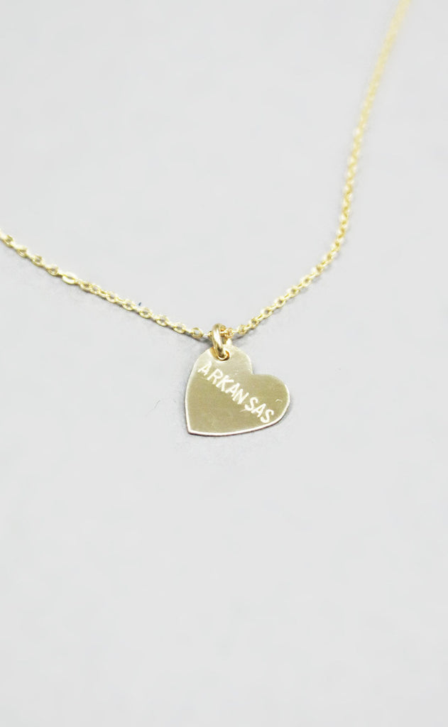 arkansas heart necklace