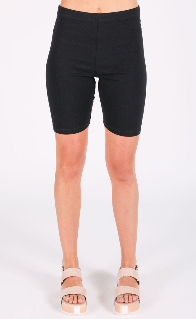 around town biker shorts - black