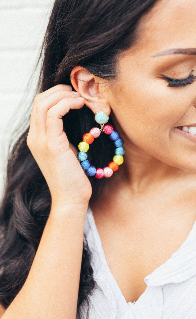 ashley earrings - multi