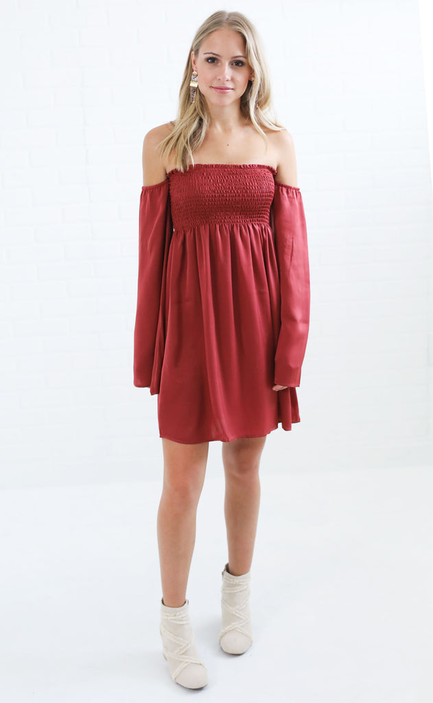 show me your mumu: ashley smocked dress - sienna sheen