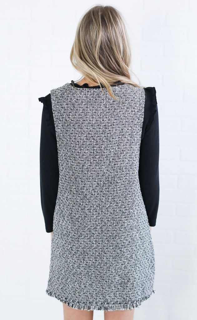 aspen nights tweed dress