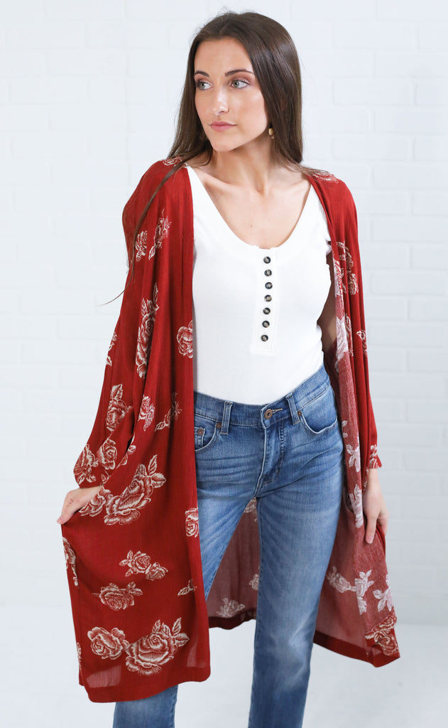 autumn breeze floral duster