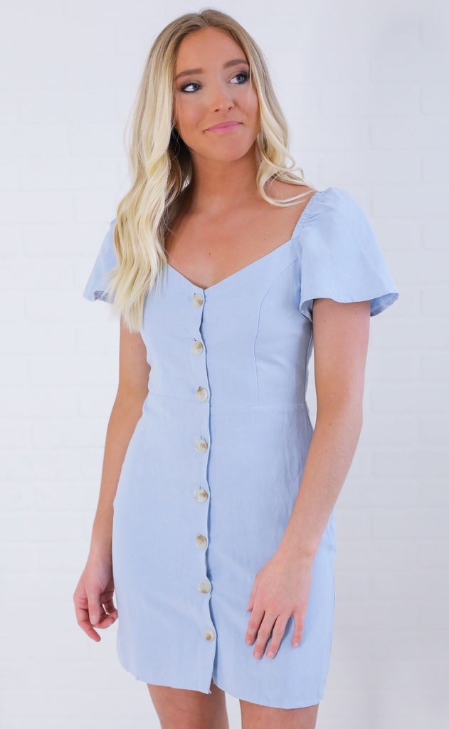 baby blues button up dress