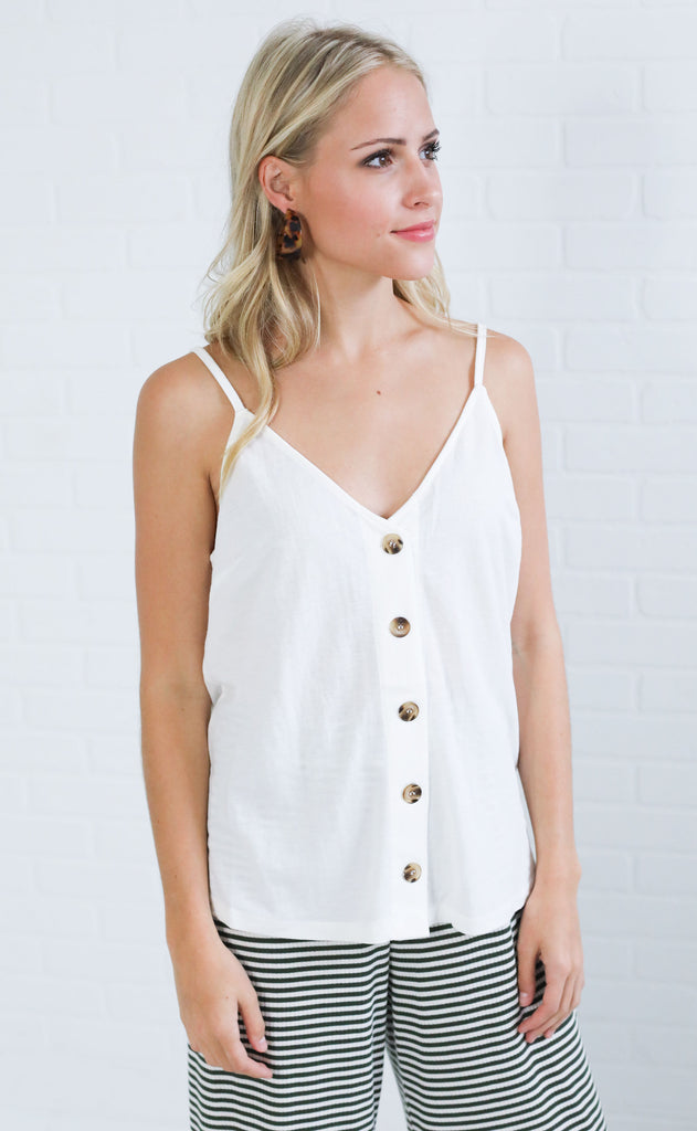 basic is best button up top - ivory