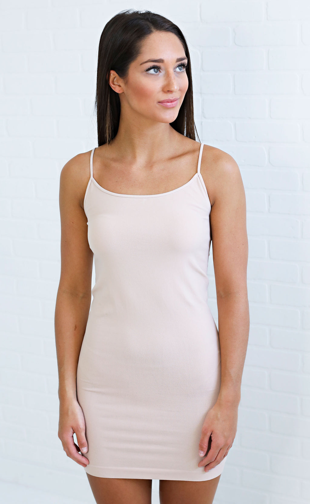 basic slip dress - blush