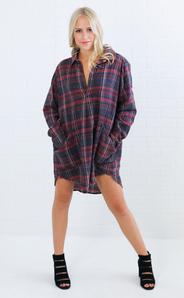 be cool plaid tunic