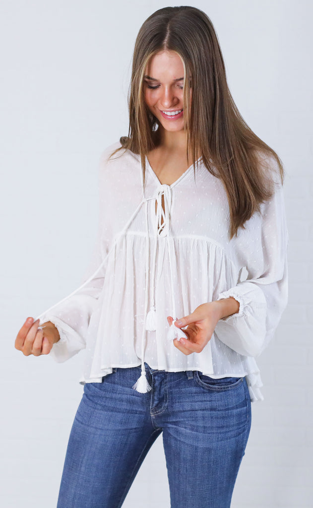 beach breeze flowy top