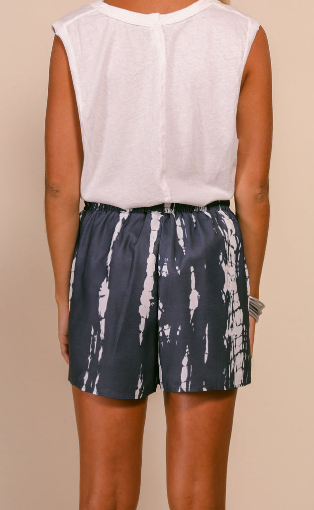 beach nights tie dye shorts