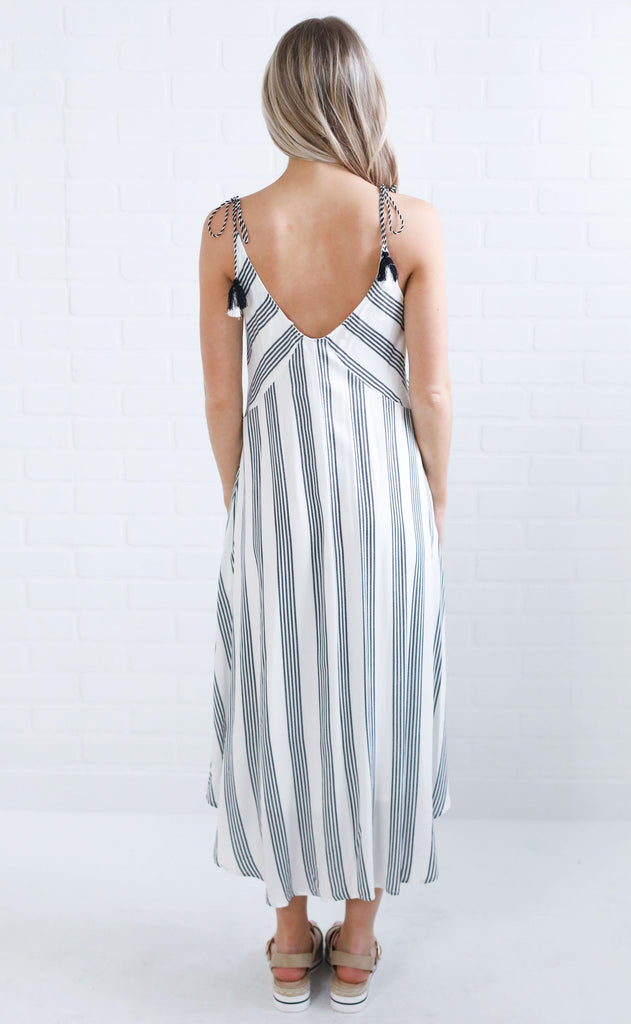 beachside striped dress