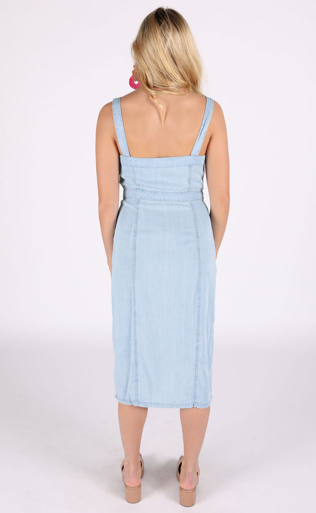 beachside vibe chambray dress