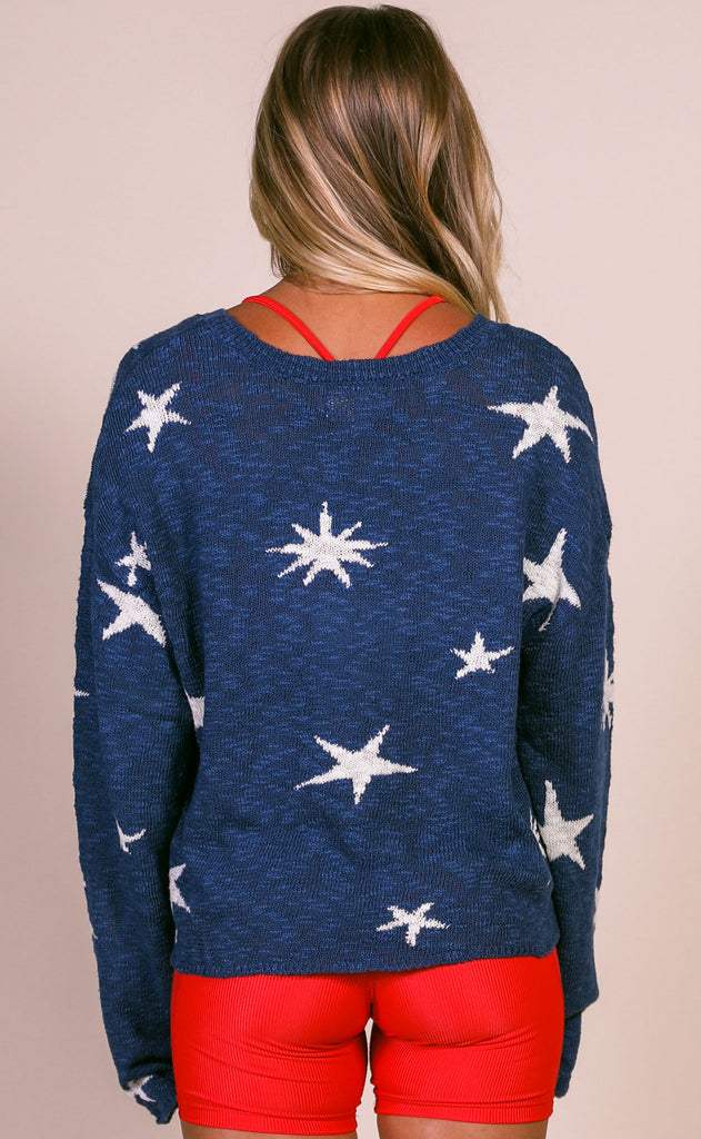 beach riot: beach sweater - marine navy