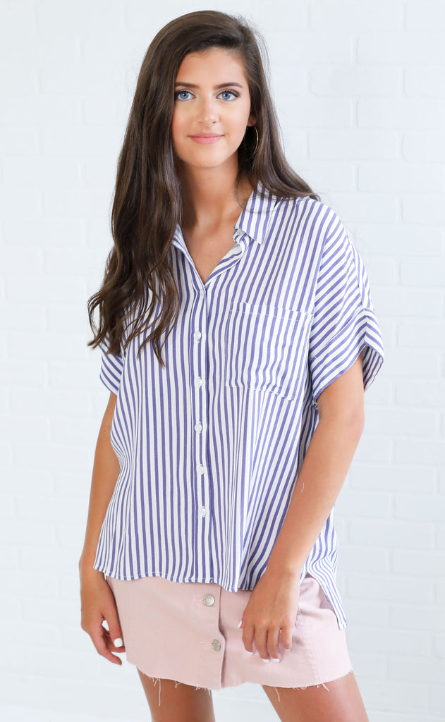 beachwood striped top - purple