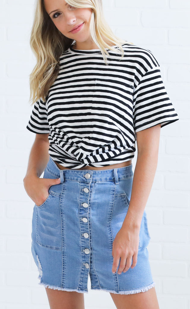 beat the heat striped top