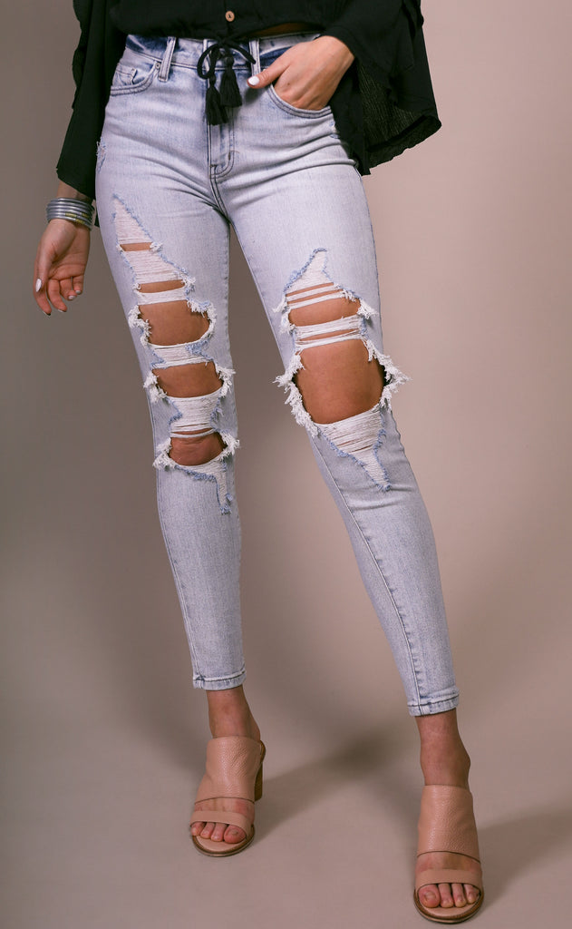 bella distressed jeans