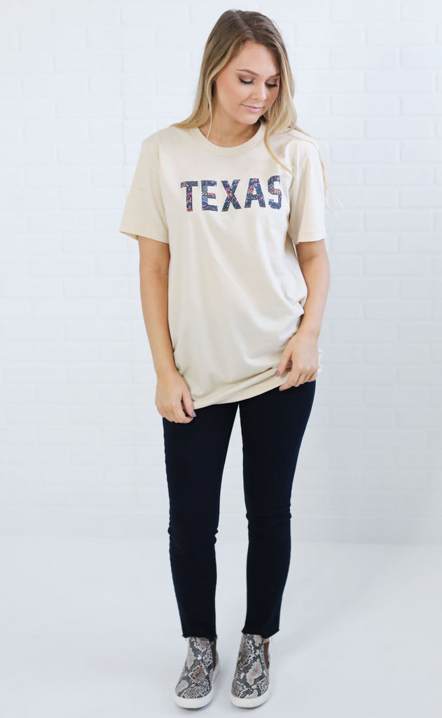 charlie southern: berry floral state t shirt - texas