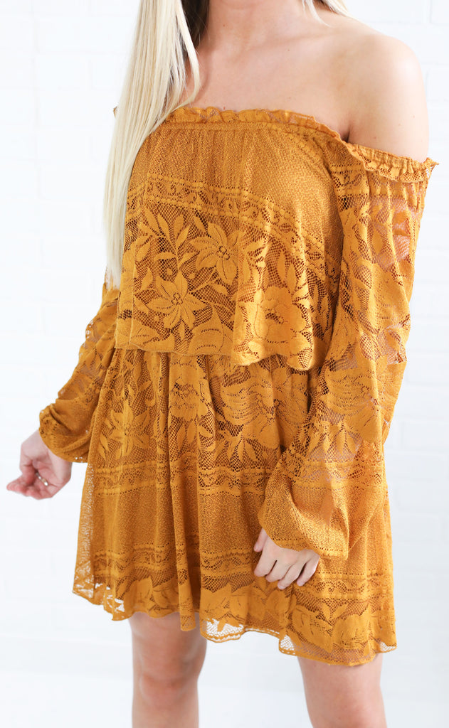 show me your mumu: bess dress - moonlight roses lace marigold