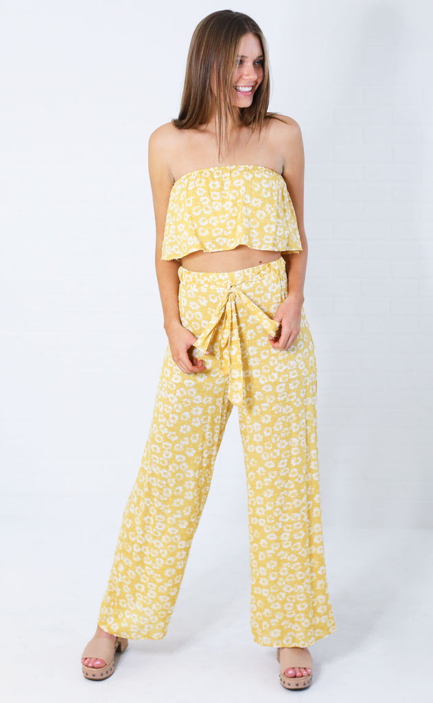 best buds two piece set - yellow