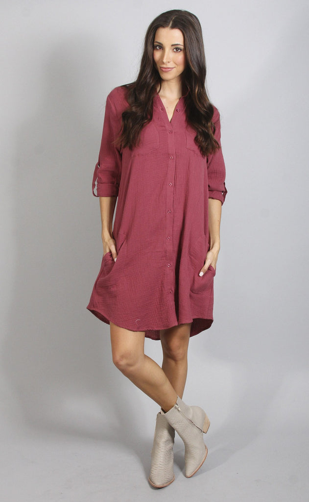 best of friends button up dress
