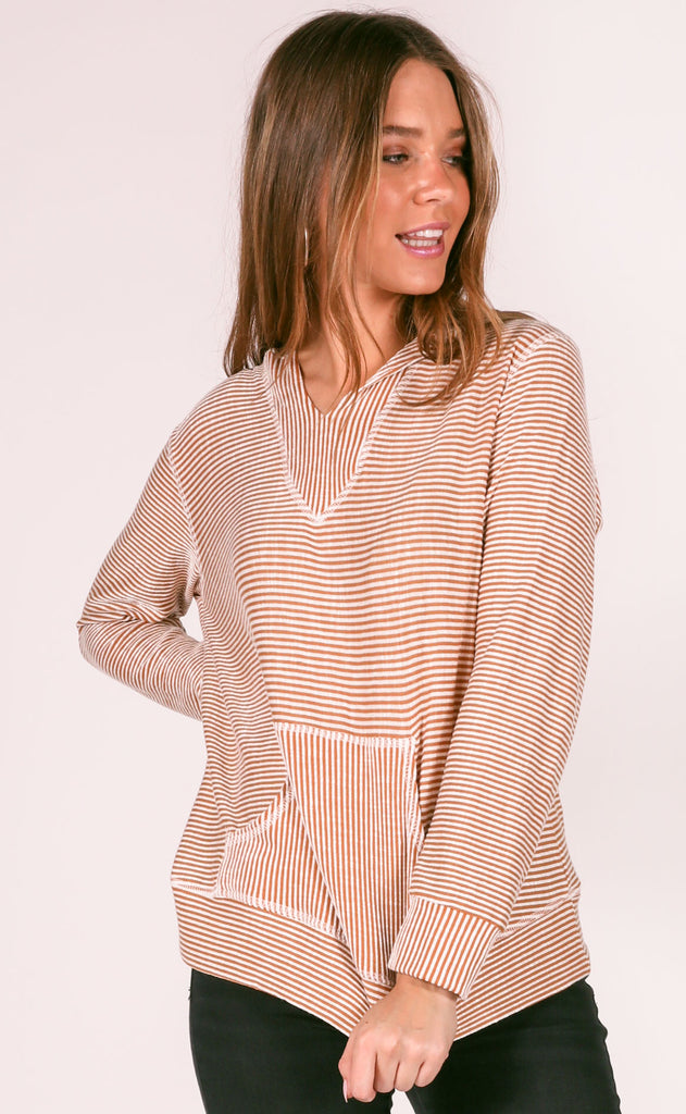 best of the best striped pullover - mustard