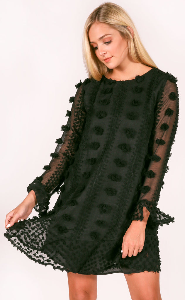 best of the best textured dress - black