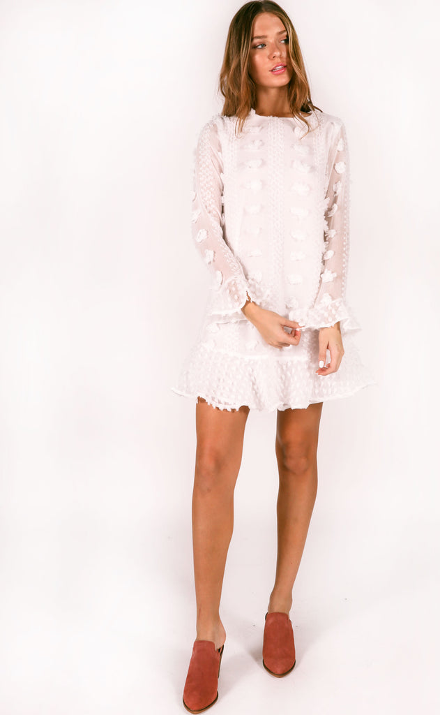 best of the best textured dress - ivory
