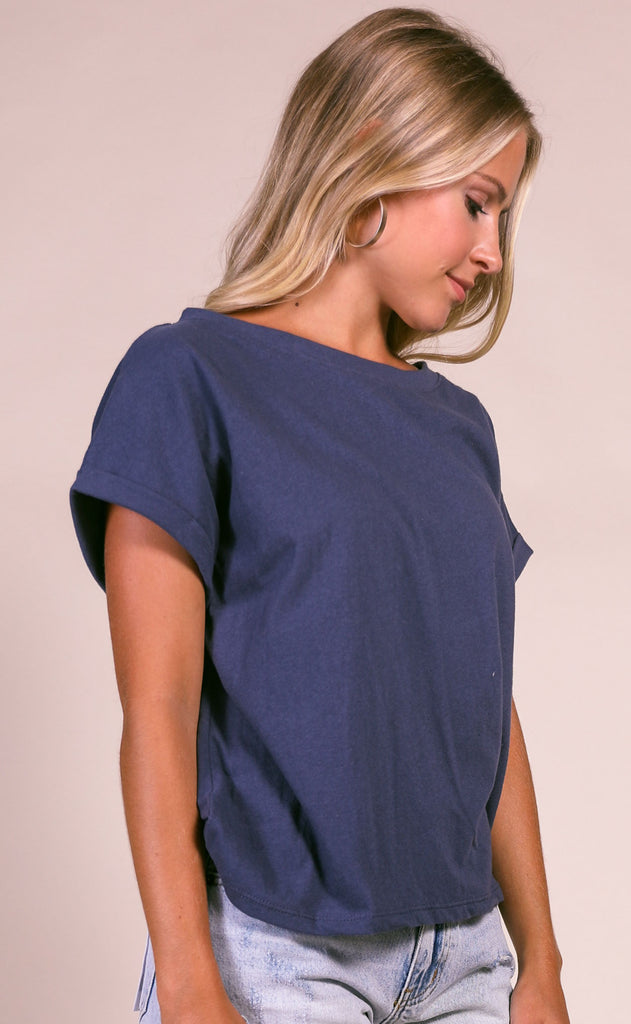 better days basic tee - navy