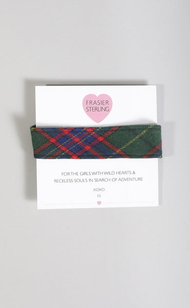 frasier sterling: beverly hills high green plaid choker