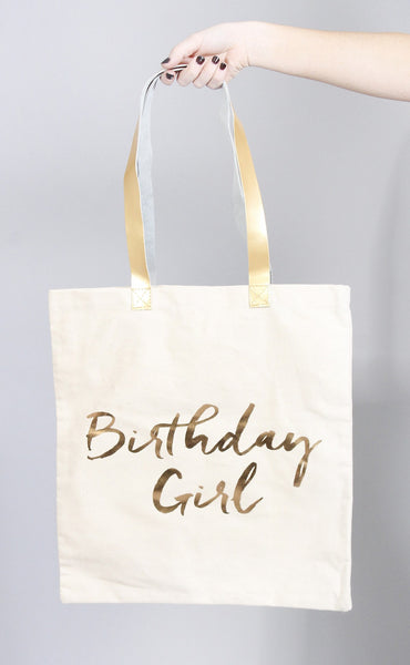 charm school tote bag - birthday girl