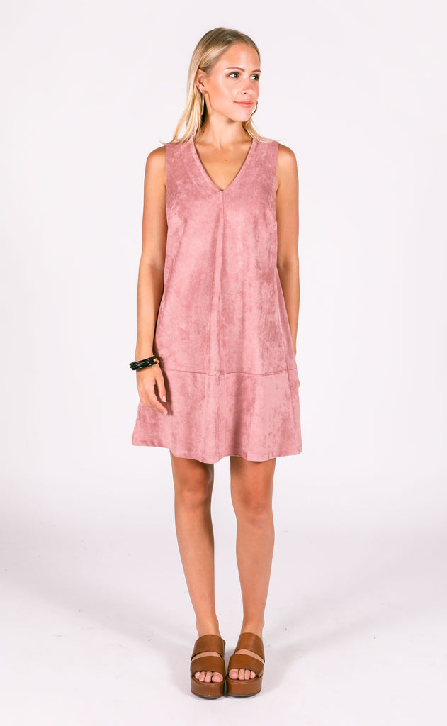 bishop + young: suede v-neck dress
