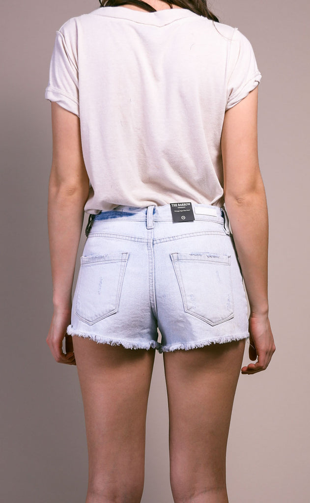 blank: barrow shorts - light wash distress
