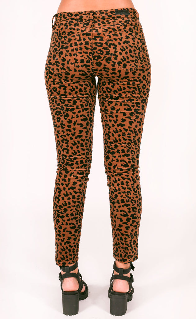 blank: the reade corduroy skinny - jungle cat