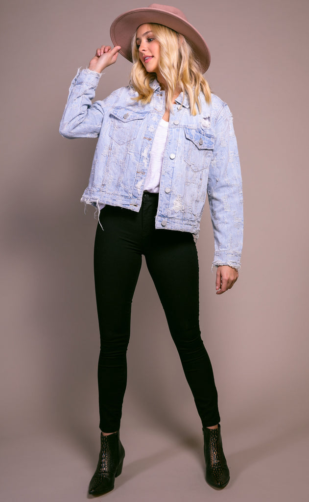 blank: ride wit me denim jacket