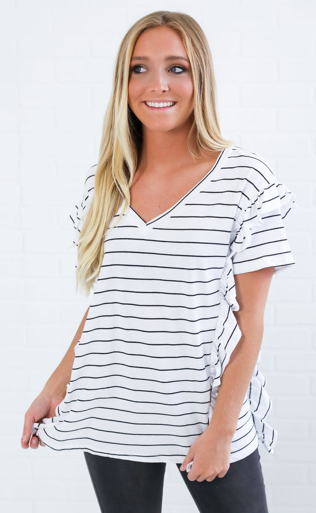 blank space striped top