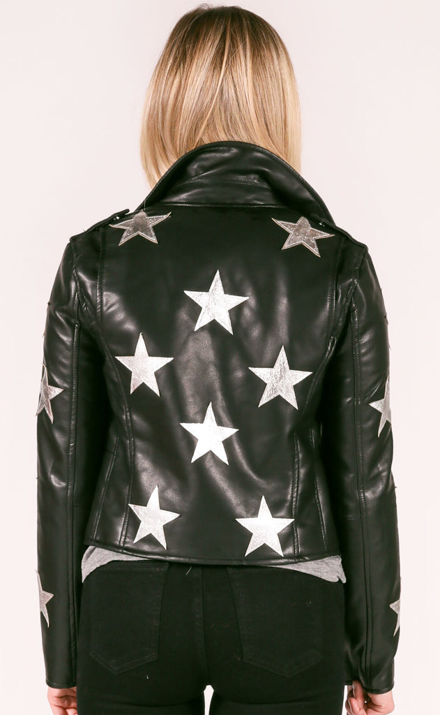 blank: stardust leather jacket