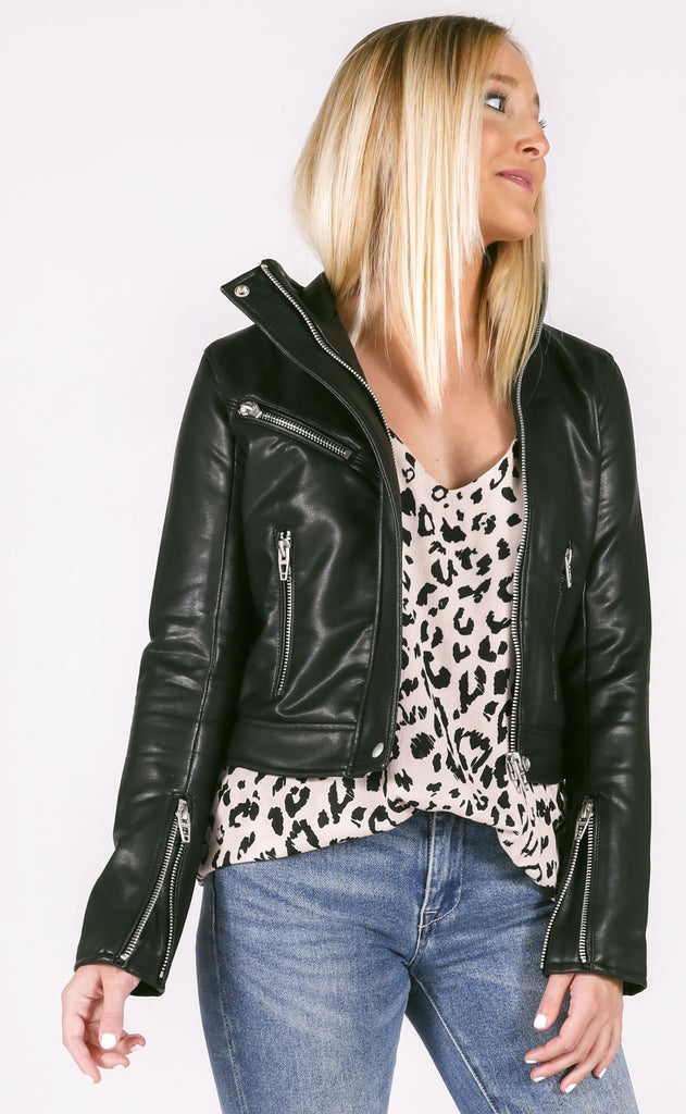 blank: essentials leather jacket