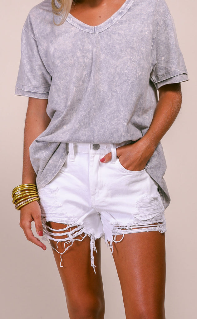 blank: barrow shorts - white