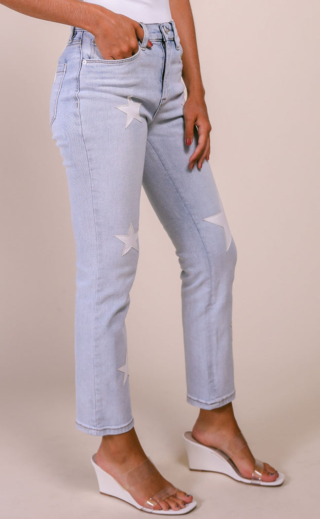 blank: the madison jeans - in too deep star patch