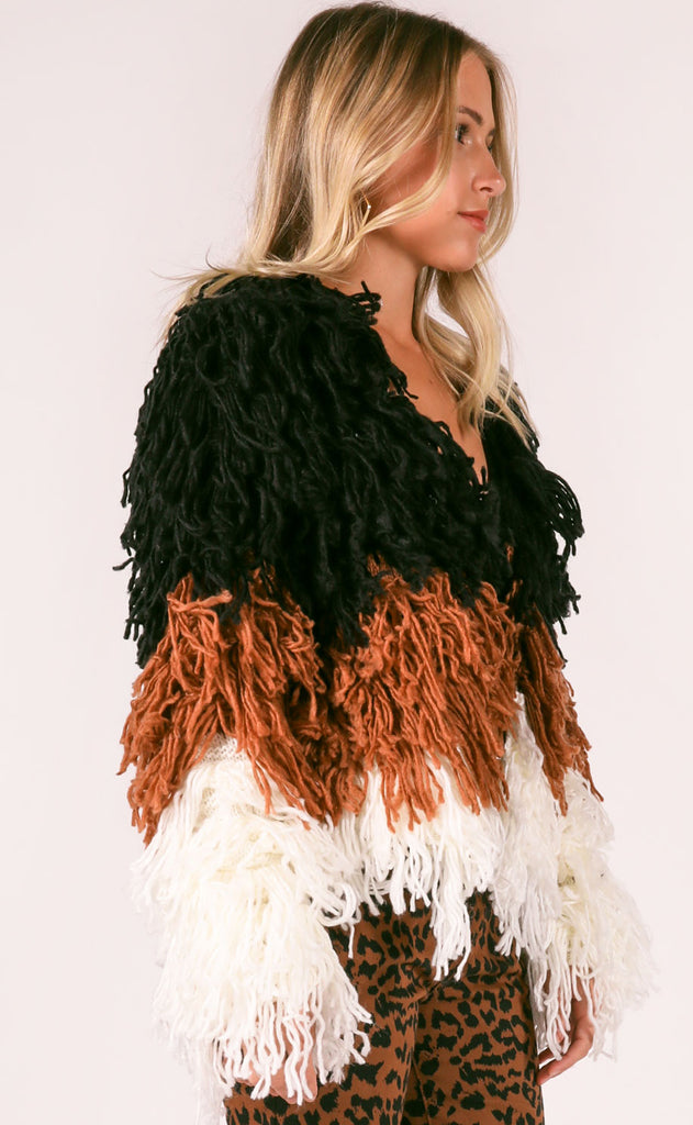 block party fringe sweater