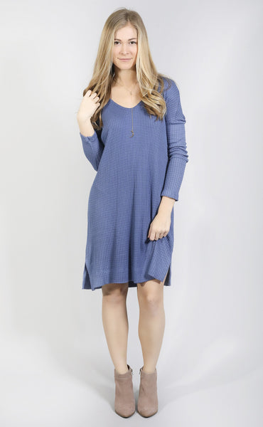 change it up waffle knit dress