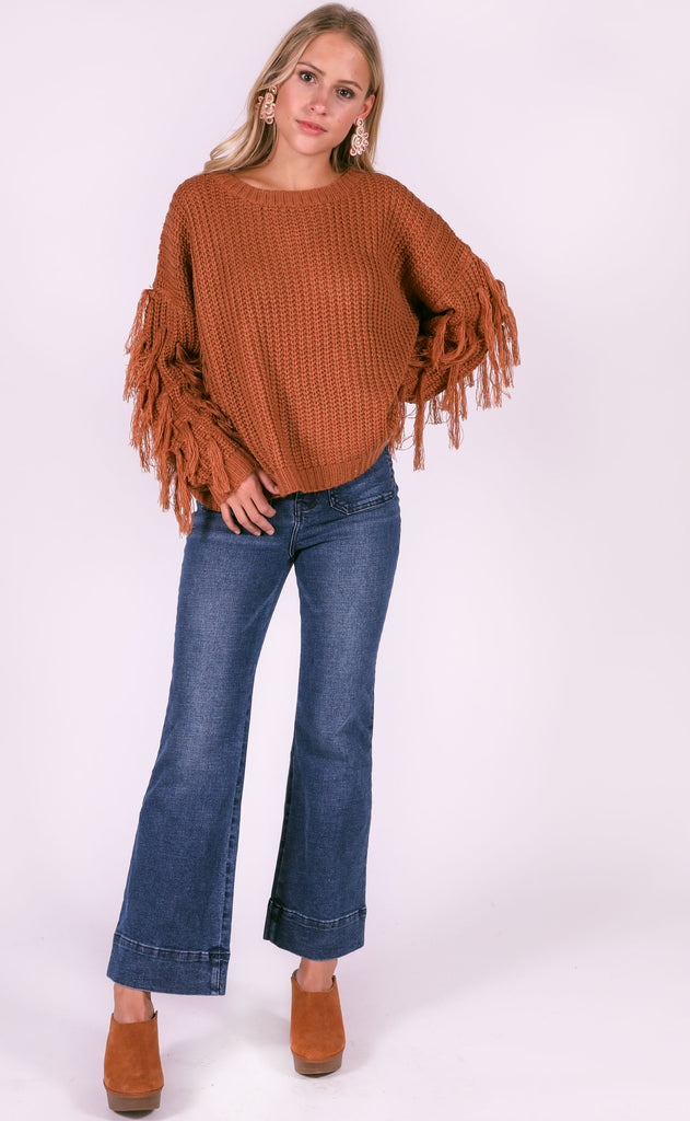 bluegrass fringe sweater