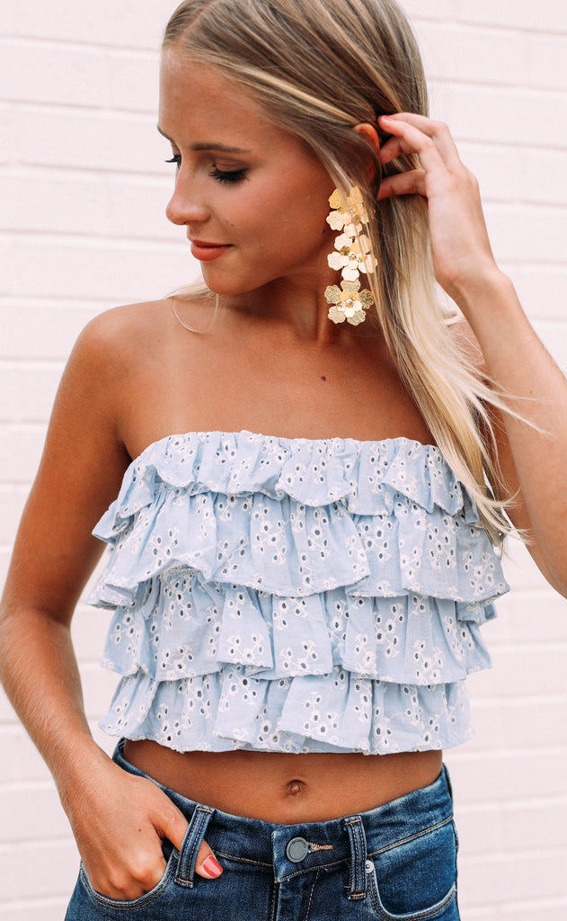 bluegrass strapless top