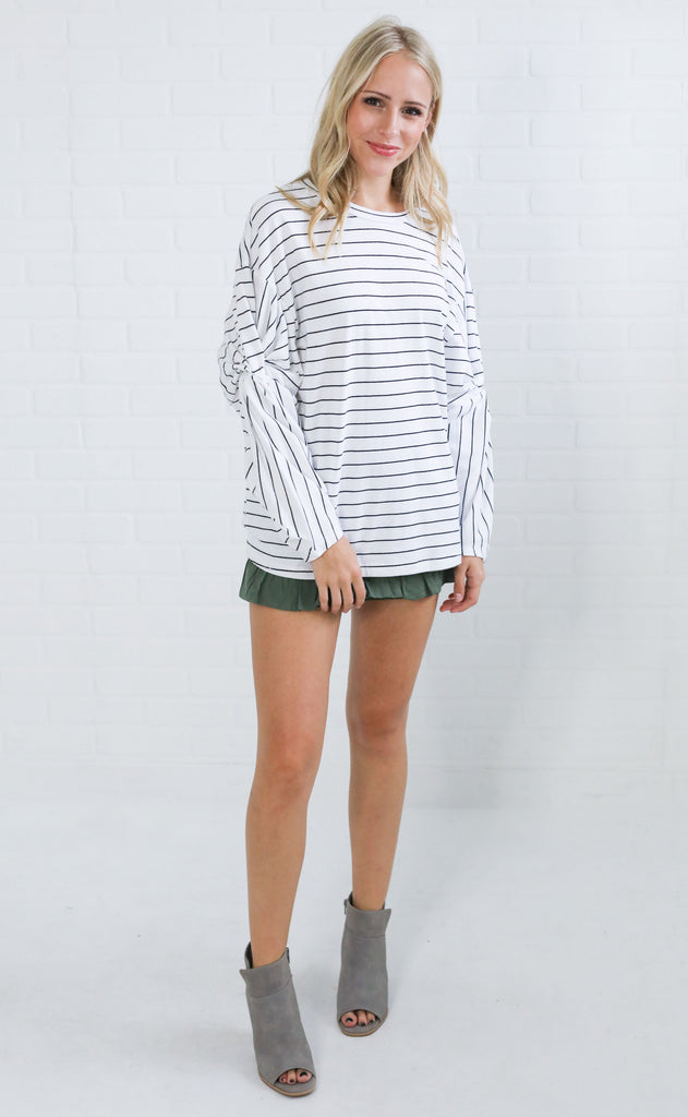 blurred lines striped top