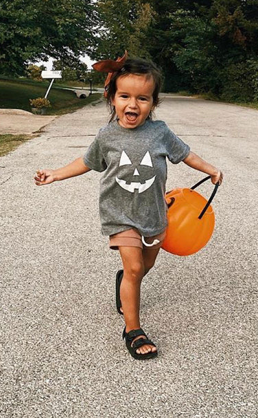 charlie southern: jack-o-lantern glow in the dark toddler tee