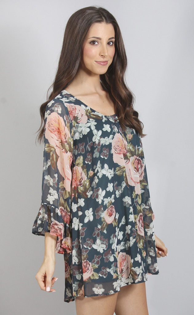 show me your mumu: boomerang low back dress - fall in love floral