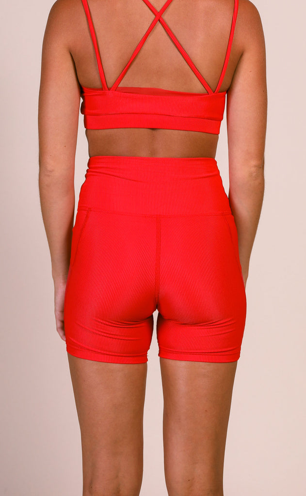 beach riot: tony bike short - red