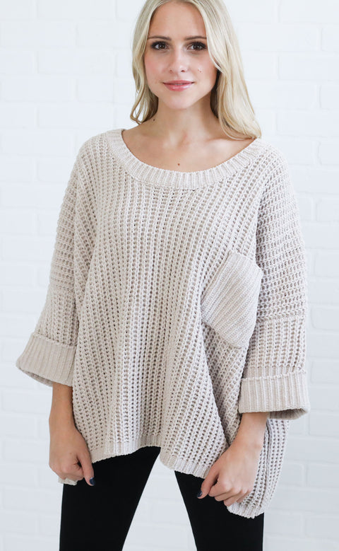 box it to me oversized sweater