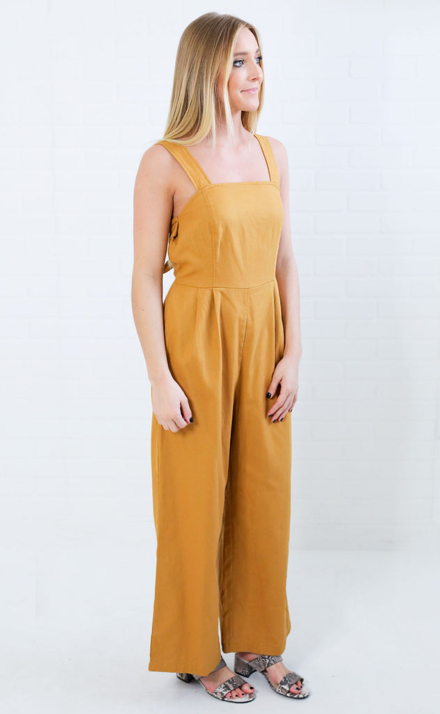 break free woven jumpsuit - yellow