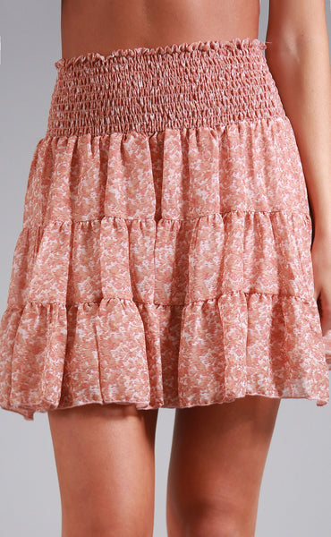 bring on the ruffles printed skirt
