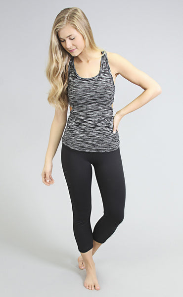brooke workout top - black/white
